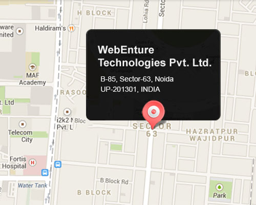 Webenture Location Map